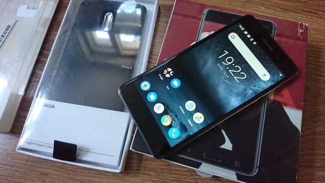 Nokia 6 TA-1033 + 2 oryginalne etui