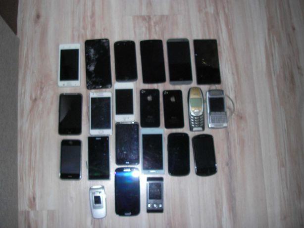 Telefony na części 22szt