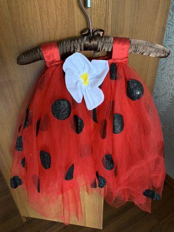 Платье карнавальное божья коровка