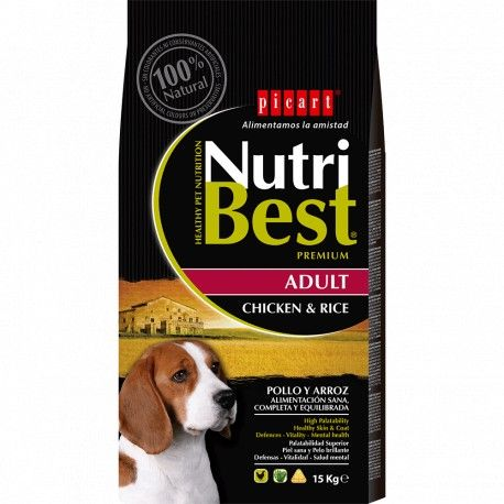 Ração Adult Chicken & Rice Nutribest Premium para Cão Frango e Arroz