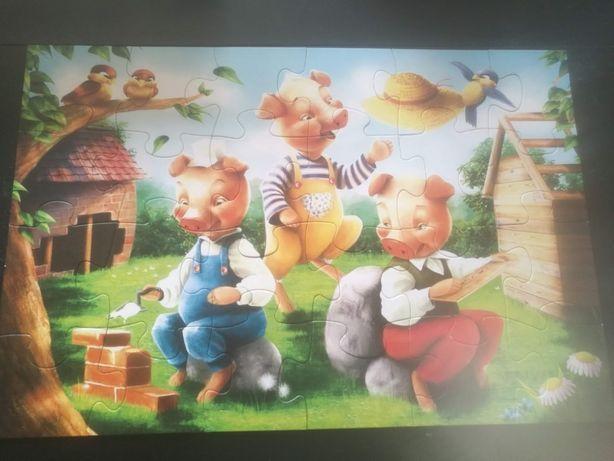 24 maxi puzzle 3 świnki firmy Trefl