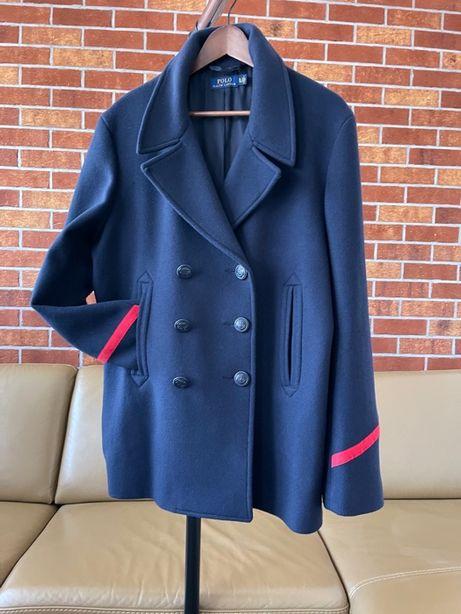 Płaszczyk damski Ralph Lauren, rozmiar XL, kolor granatowy, wełna