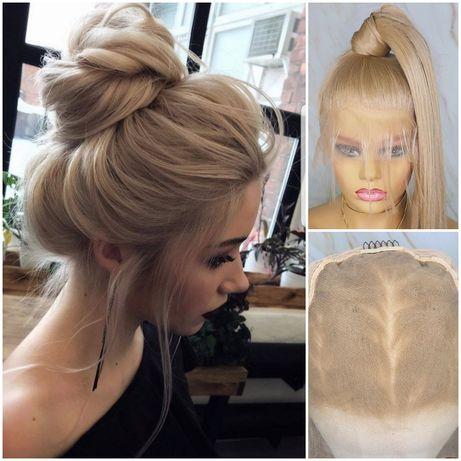 Парик система волос бежевый блонд. Аналог натуральных париков.