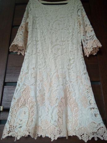 Sukienka wizytowa koronkowa