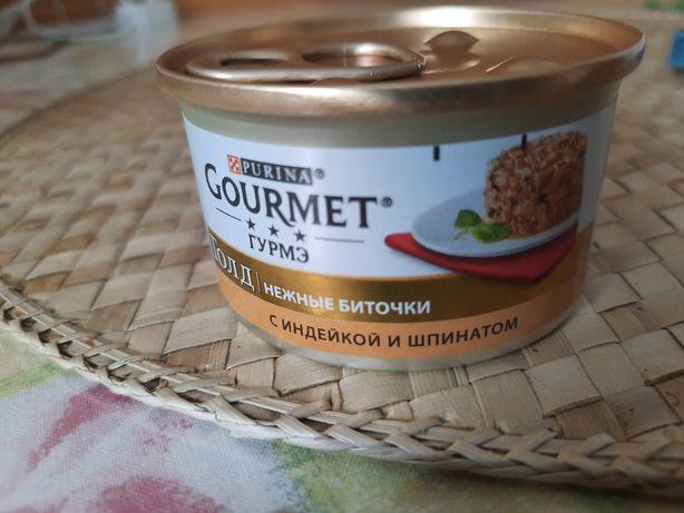 Gourmet голд нежные биточки с индейкой и шпинатом, 8 шт по 10 грн.