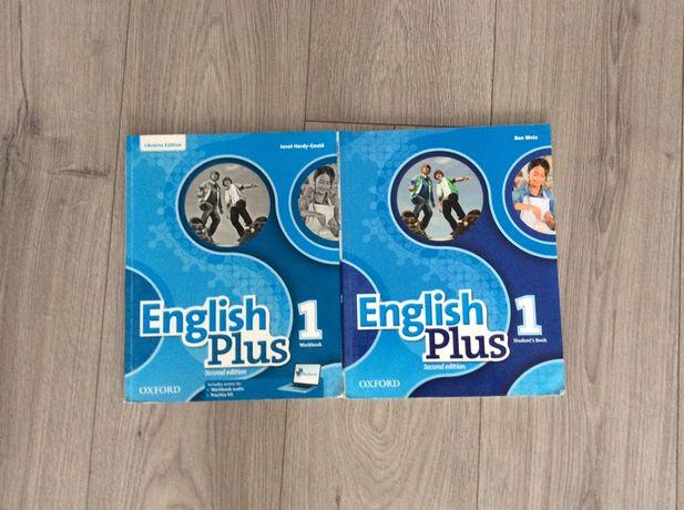 Книга и тетрадь по английскому . English Plus 1