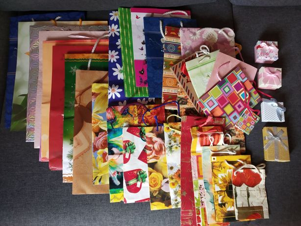 Zestaw - torebki ozdobne na prezenty
