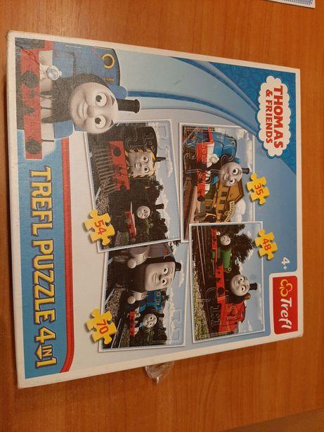Puzzle Tomek i przyjaciele 4w1