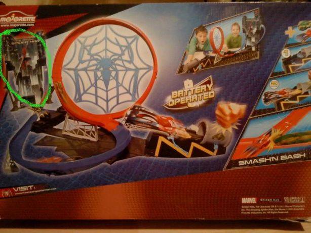 MAJORETTE tor wyścigowy z wyrzutnią Spider-man + PUZZLE