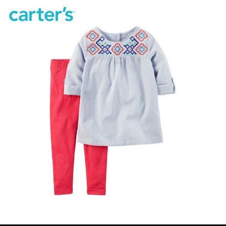 Набор Carter's для девочки леггинсы и туника