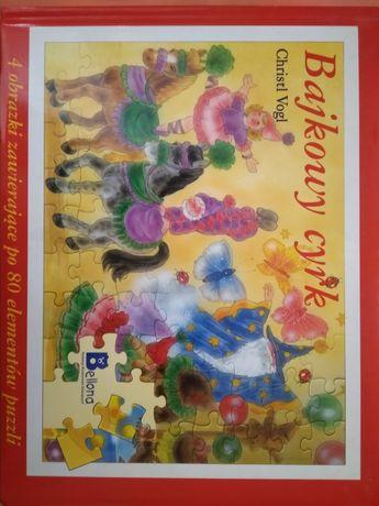 Puzzle książka Bajkowy cyrk