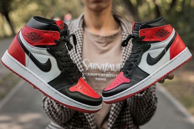 """Кроссовки мужские женские ТОП!!Nike Air Jordan Retro 1 """"Red Black""""Найк"""