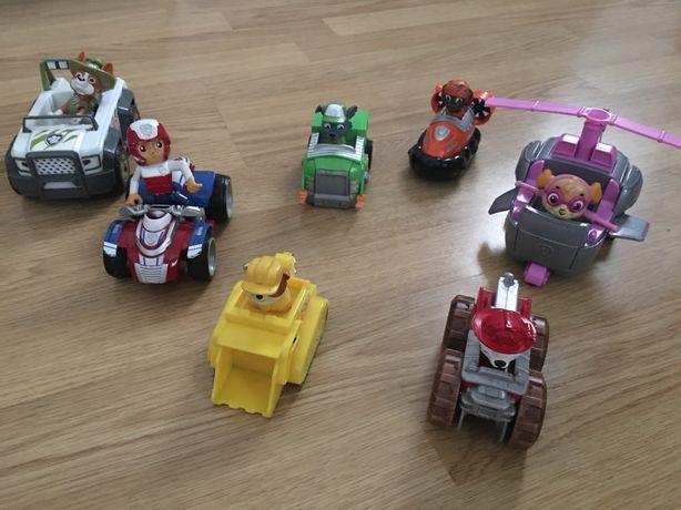 Conjunto de 7 veiculos com figuras da patrulha pata