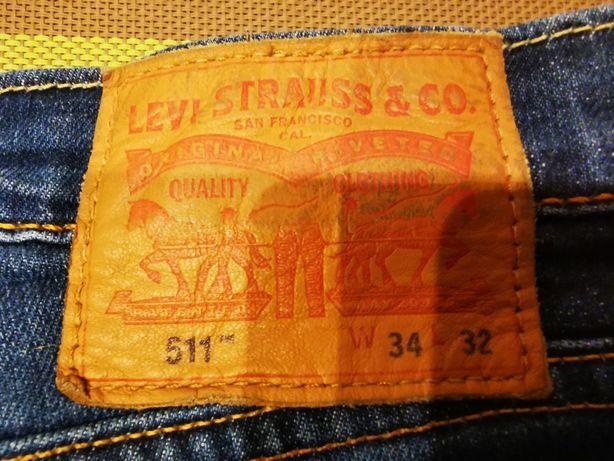 Spodnie jeans męskie Levis 511 W 34 L 32