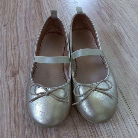 Złote balerinki h&m rozmiar 28