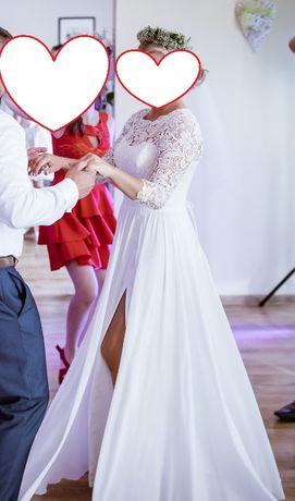 Suknia ślubna rustykalna/ boho