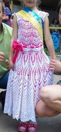 Нарядное платье ручная работа