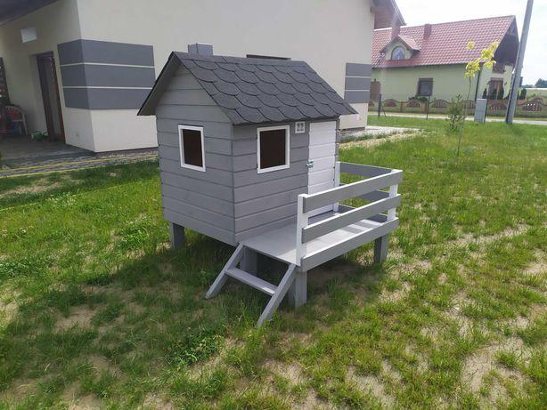 Domek dla dzieci plac zabaw drewniany bawialnia ogrodowy