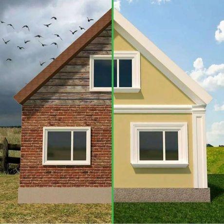 Утепление фасадов квартир, частных домов ,коммерческие здания.