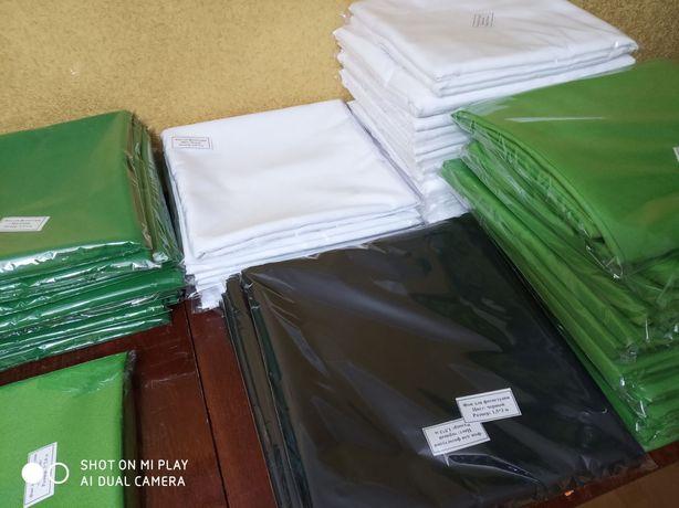 Фотофон белый / зеленый , фотозона , фотофон тканевый хромакей 1.5м/3м
