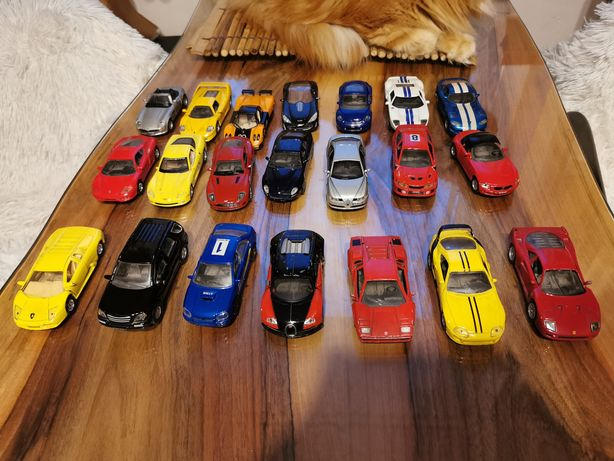Super samochody kolekcja 21 sztuk.