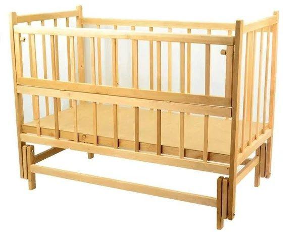 Детская кроватка маятник деревянная + матрас в подарок