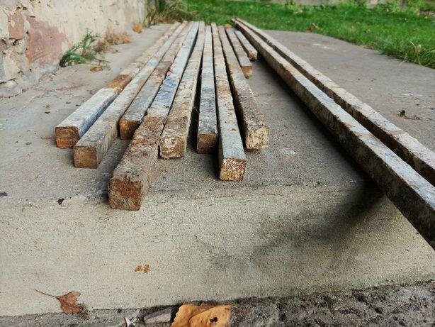 Pręty kwadratowe 20x20 mm - około 25 metrów bieżących