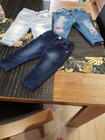 Spodnie jeans rozmiar 74