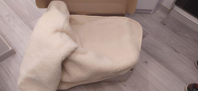 Nowa kołdra z wełny Merynos-Satyna 155x200 ciepła