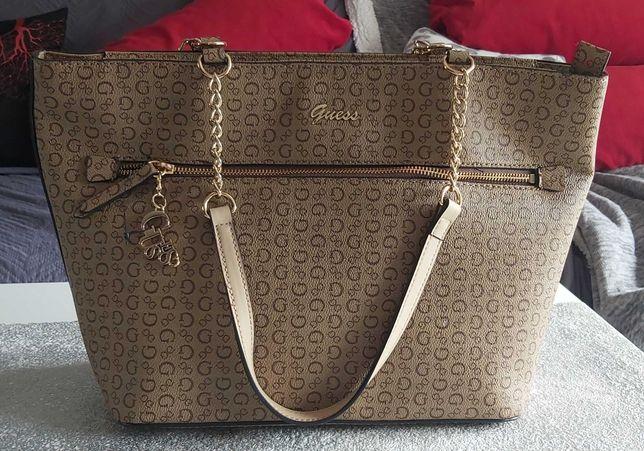 Nowa torebka Guess beżowa duża
