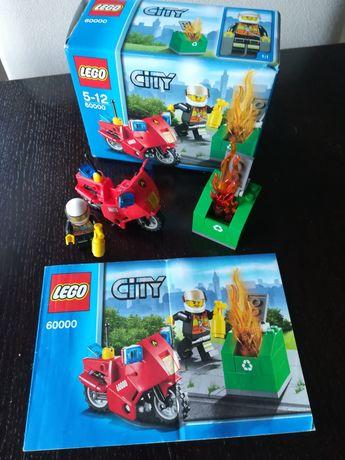 Lego City motocykl strażacki 60000