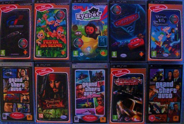 Conjunto de videojogos para consola PSP