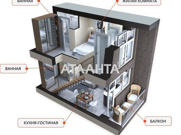 Двух уровневая квартира с ремонтом в ЖК KEKS. Редкое предложение