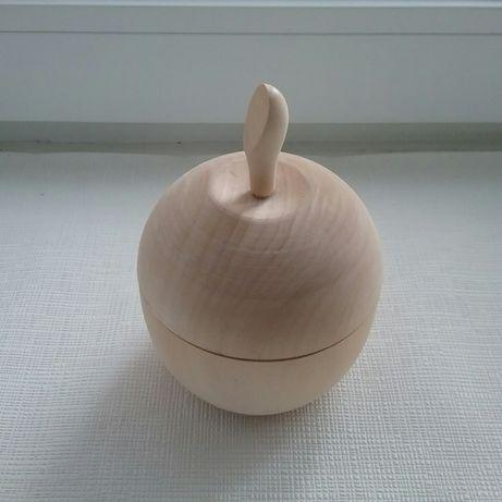 Деревянная шкатулка заготовка яблоко