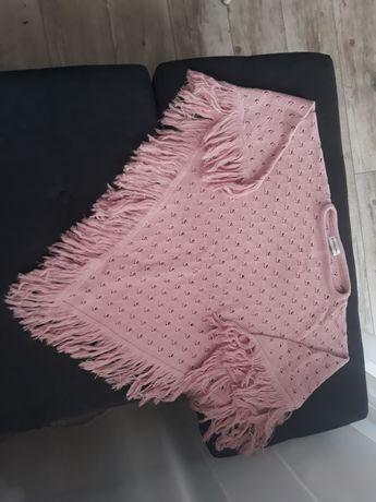 Różowe poncho ponczo rozmiar uniwersalny