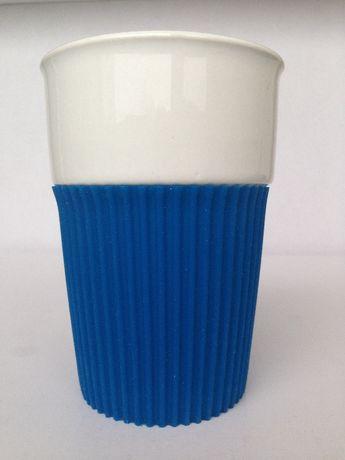 Термо-кружка с крышкой керамика