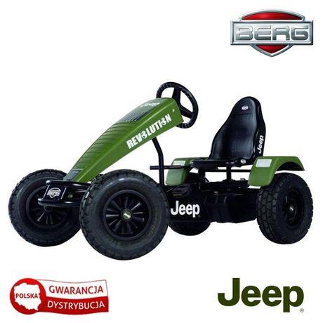Tereonowy Gokart na pedały Jeep Revolution BFR Pompowane koła od 5 la