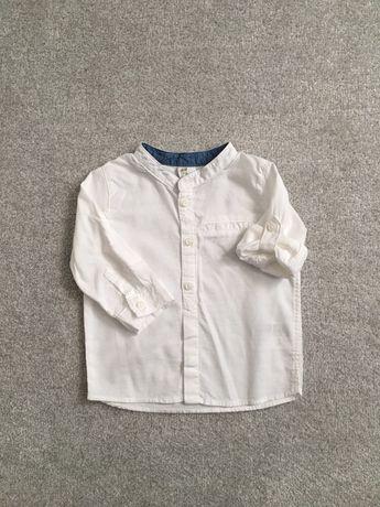 Koszula elegancka dla chłopca ze stójką biała 68 H&M