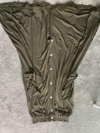 Dluga spodnica khaki risk made in warsaw