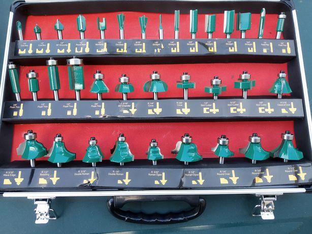 Frezy do drewna 35 rodzajów, walizka. Nowe!!