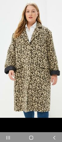 Пальто оверсайз Lost Ink Plus Леопардовый принт XL