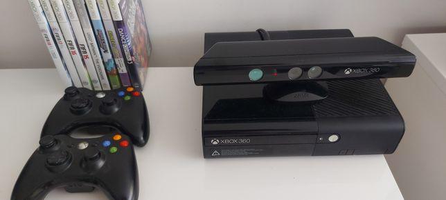 Xbox 360 500gb+ kinekt+2 pady+8 gier