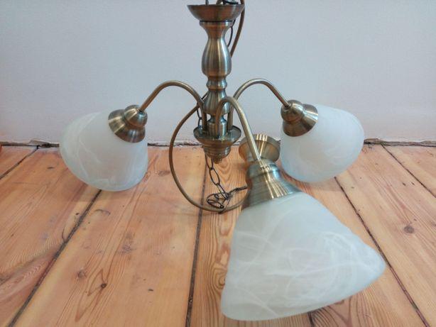 Mosiężna lampa wisząca
