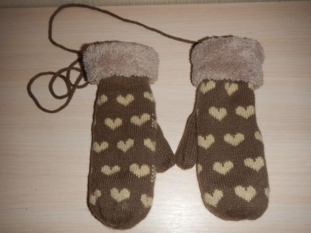 Теплые рукавицы р.152-158см