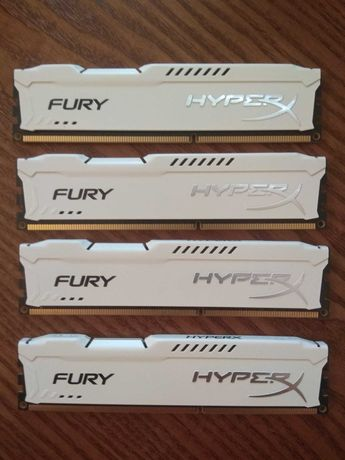 Оперативная память Kingston HyperX Fury DDR3-1866 CL10 16 Gb (4x4 Gb)
