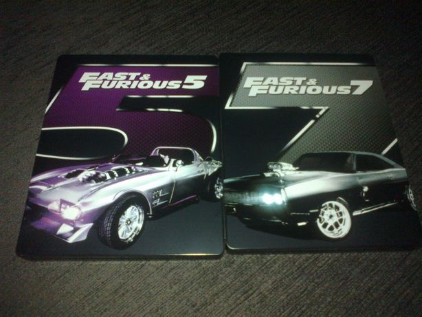 Fast & Furious 5 e 7 em caixa metálica - BLU-RAY