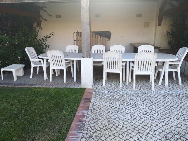 Mesa jardim com 10 cadeiras