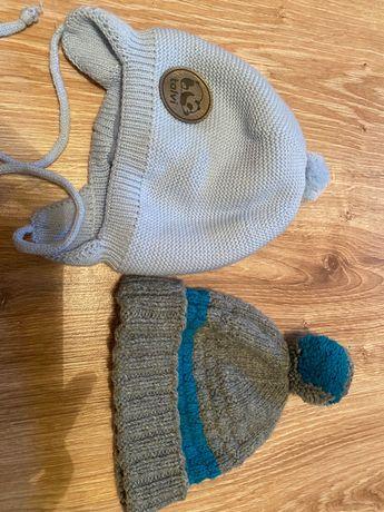 Тепла шапка блакитна 9-12 міс для хлопчика