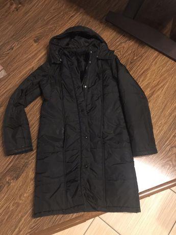Kurtka zimowa płaszcz czarna r. S/M
