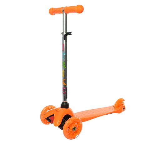 Самокат детский iTrike BB 3-013-4-C трехколёсный оранжевый